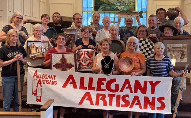 Allegany Artisans gather for a photo in 2019 before the COVID-19 pandemic shut down the 2020 Studio Tour, which will be back this fall.