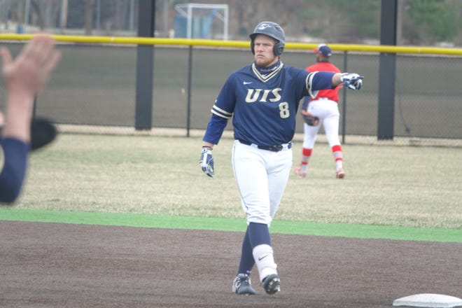 University of Illinois Springfield's Kal Youngquist had 36-game hitting streak in first full with the Prairie Stars.