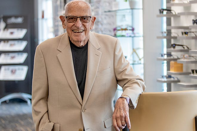 Dr. Larry Chadwick, O.D. (retired) poses for a photo at Kehoe Eye Care, 261 N. Broad St., on Thursday, June 10, 2021.