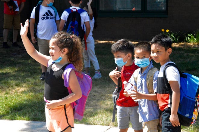 Students at West Ottawa's Pine Creek Elementary on the last day of school Friday, June 11.