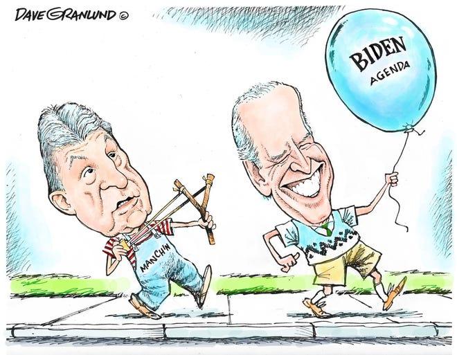 Dave Granlund cartoon on Democrats' agenda