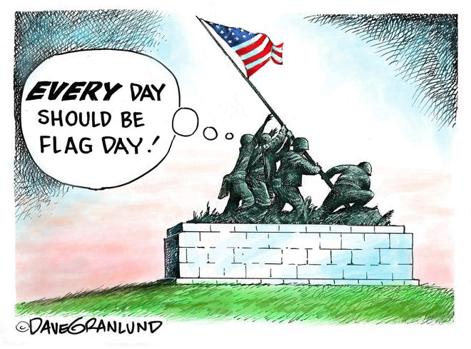 Dave Granlund cartoon on flag day