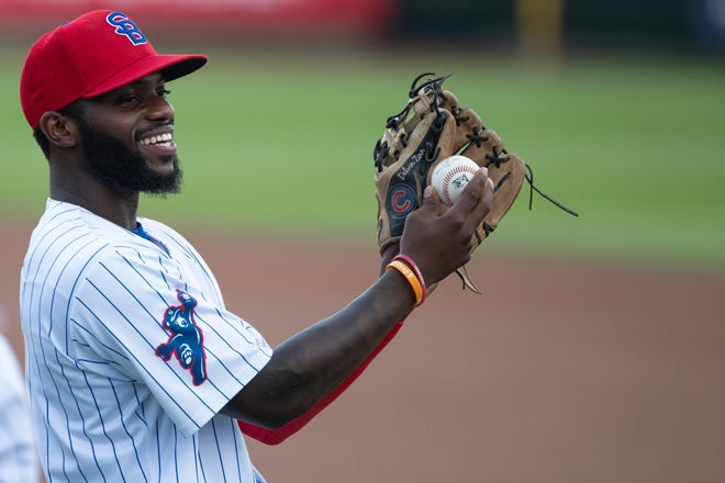 """South Bend Cubs shortstop Delvin Zinn, a self-described """"Energizer Bunny"""" has stolen 21 bases to date without being thrown out."""