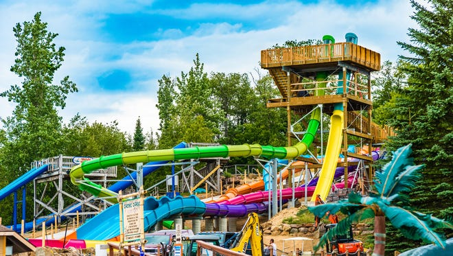 A 23-year-old woman died Sunday from what is believed to be a severe asthma attack at Enchanted Forest Water Safari, police said in a statement.