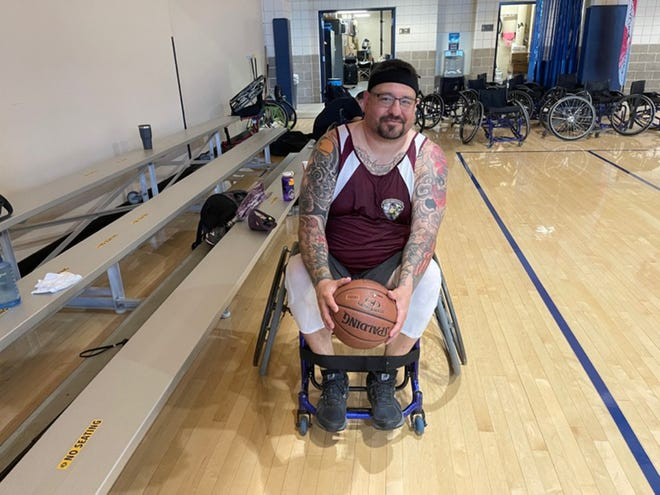 Gabriel Palacios, a Marine veteran who lost his ability to walk in 2010 due to an improvised explosive device (IED) accident in Afghanistan, is competing at the Endeavor Games in Edmond this weekend.