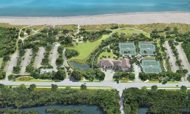 The proposed master plan for improvements to Phipps Ocean Park was presented to the Town Council at its meeting last week. This rendering shows what the 18-acre park will look like once the redesign is complete.