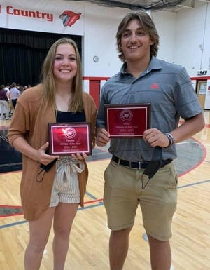 Jayden Marlatt and Sheldon Huff collected the Female and Male Athletes of the Year honors from J-L.