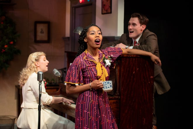 """The Gamm will revive its live radio play version of """"It's a Wonderful Life"""" in November and December. From left, Emily Turtle, Lynsey Ford and Jeff Church."""