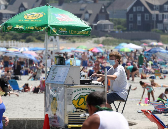 Easton's Beach in Newport on a busy day last July.