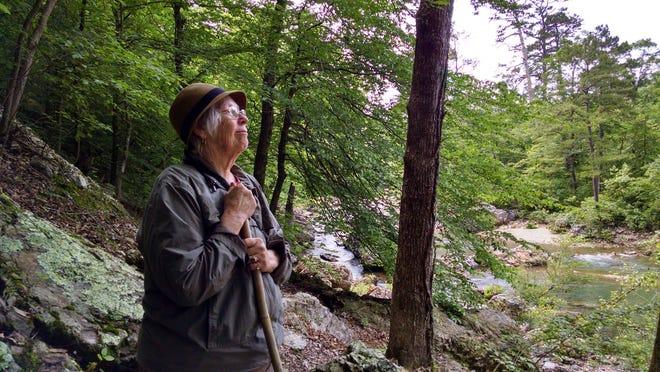 Celeste Rose at Sweet Creek Falls near Mapleton.