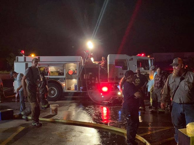 Dublin firefighters, along with several regional agencies, knocked out a fire at the Dollar General store late Tuesday night.