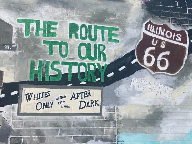 A detail of Korbin King's mural on the east side of the Route History building at 737 E. Cook St. The museum and visitors center in part highlights stories around the Black experience on Route 66. It is set to reopen on July 9 after being shuttered since the end of the tourist season in 2019 because of the COVID-19 pandemic.