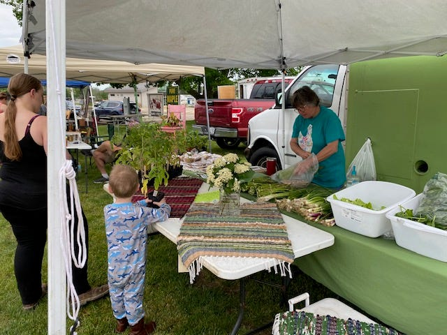 Shoppers large and small showed up at last week's Kewanee  Farmers Market.