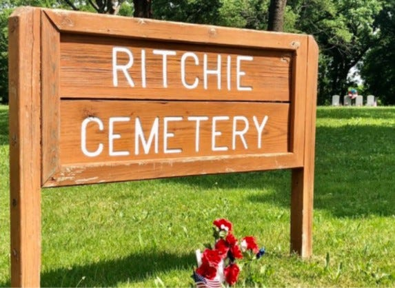 A free Zoom program Thursday will focus on researching Ritchie Cemetery, shown here at the northwest corner of S.W. 27th and Boswell Avenue.