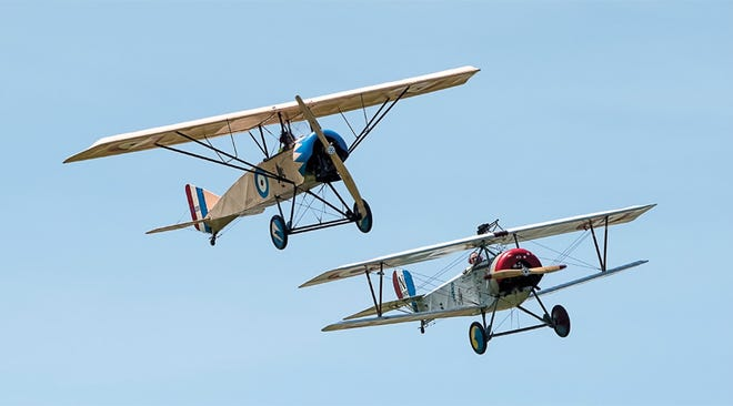 These two World War I replica planes were recently donated to Topeka's Combat Air Museum.