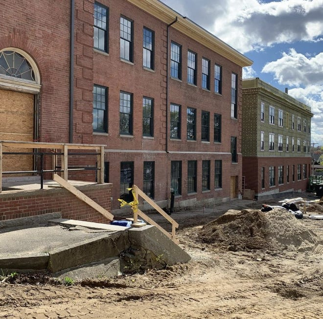 The old Walker School at 145 Berkley St. in Taunton is almost finished being made into affordable housing apartments for seniors.