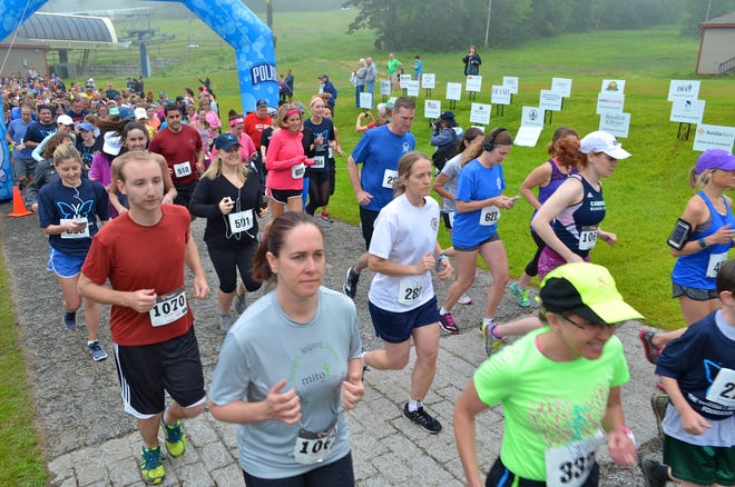 Runners take part in the Vanessa T. Marcotte Foundation 5K in 2017.