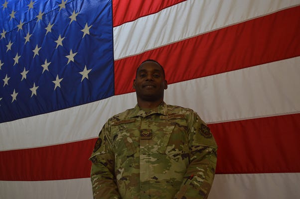 Airman 1st Class Mervale Abraham is originally from Grenada and is in the process of becoming an American citizen.