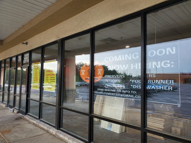 The new Rustic Burger location inside the Skyland Plaza shopping center in Spring Lake is under construction, but is expected to be open around the end of June 2021.