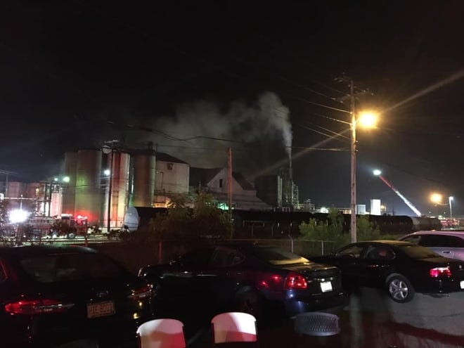 Firefighters contained a fire at Dover Chemical Corp. at 1:13 a.m. Friday. They were called at 11:51 p.m. Thursday. Photo courtesy of Dover firefighters, International Association of Fire Fighters Local 324