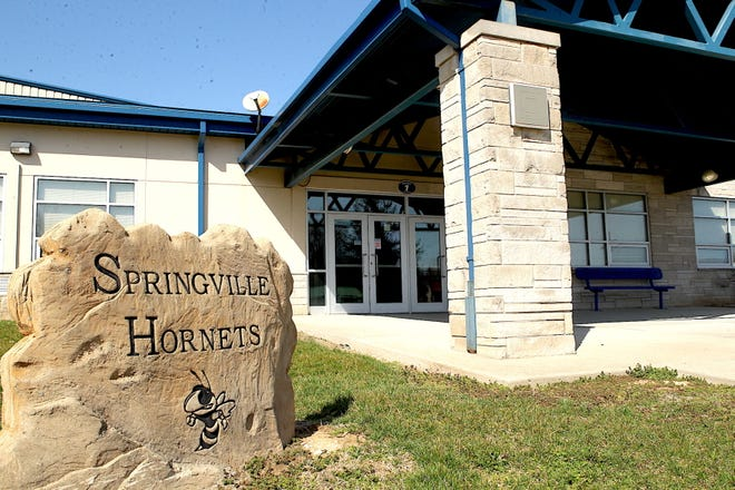 Springville Elementary School closed in 2020 as part of a school consolidation plan.