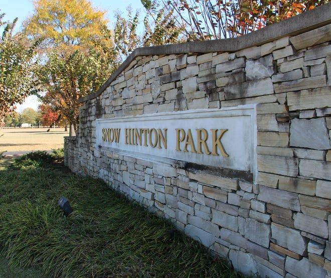 Snow Hinton Park in Tuscaloosa. November 14, 2014 (George Hill/Staff)