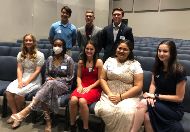 Ellis County high school students receive the Good Citizen Award from the the Rebecca Boyce Chapter of the Daughters of the American Revolution during the chapter's Patriots' Tea.