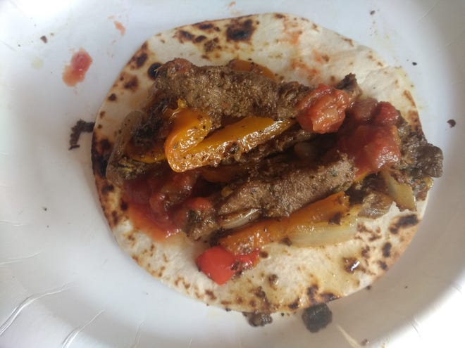 """Luke calls this dish """"easy camp tacos,"""" which actually is a blend of what most of us refer to as tacos and Guisada. It's easy to make at home or camp and the ingredients can vary to suit your taste."""