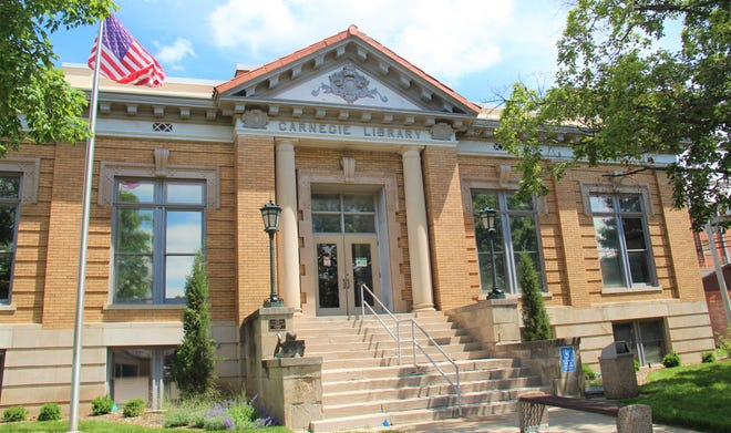 The Wellington Carnegie Library on 121 W 7th St.