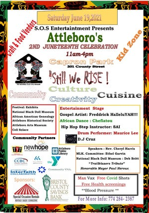 Still We Rise: A Juneteenth Celebration will be held Saturday, June 19 from 11 a.m. to 4 p.m. at Capron Park in Attleboro.