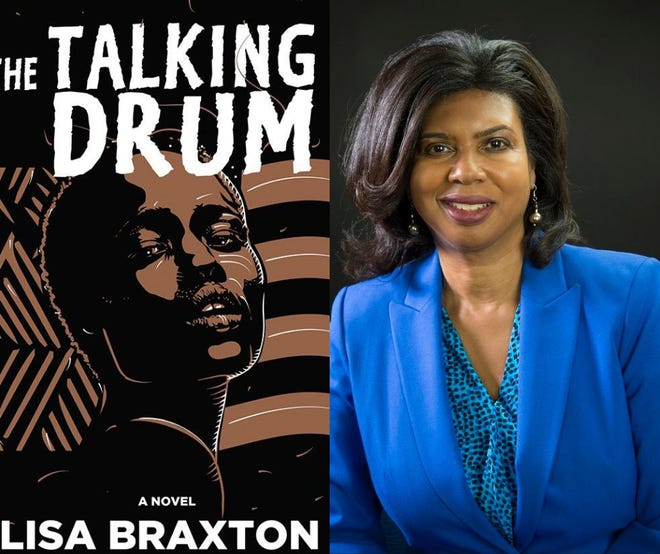 """Lisa Braxton, of Weymouth, received the 2021 Independent Publisher Book Awards gold medal for her debut novel, """"The Talking Drum"""" on May 29."""