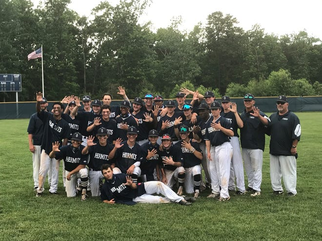 The St. Augustine Prep baseball team celebrated their fifth straight sectional title following a wild 6-5 comeback win over Red Bank Catholic on Thursday.