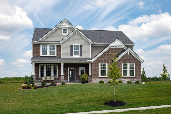 The Alden is one of a number of building plans available in the new Carriage Park subdivision in Liberty Township.