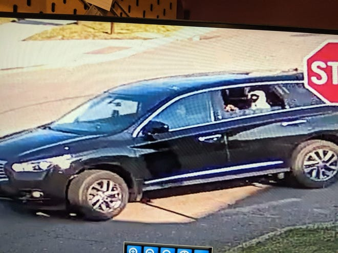 The SUV police identified in the shooting.