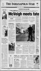 The front page of the Indianapolis Star on June 11, 2001.