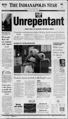 The front page of the Indianapolis Star on June 12, 2001.