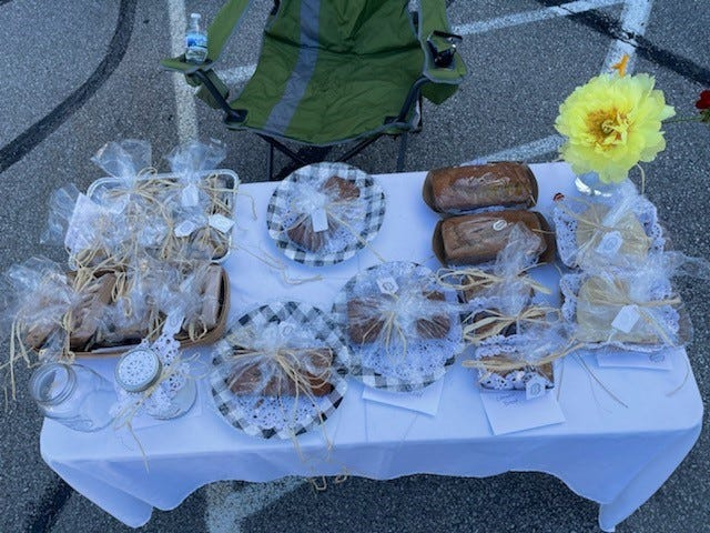 A variety of options are available at Grace LeMasters' baked good business which sets up at the Caledonia Farmer's Market each Saturday from June to September.