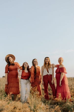 """The Cimorelli sisters have just announced their new YouTube series called """"Guess Who's Singing"""" (left to right: Katherine, Amy, Christina, Lauren, Lisa)."""