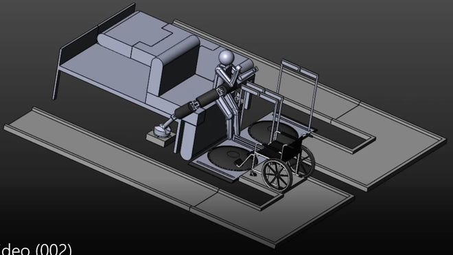 NMSU engineering students generated in their initial design for their award-winning Smart Robot Bed using SolidWorks.
