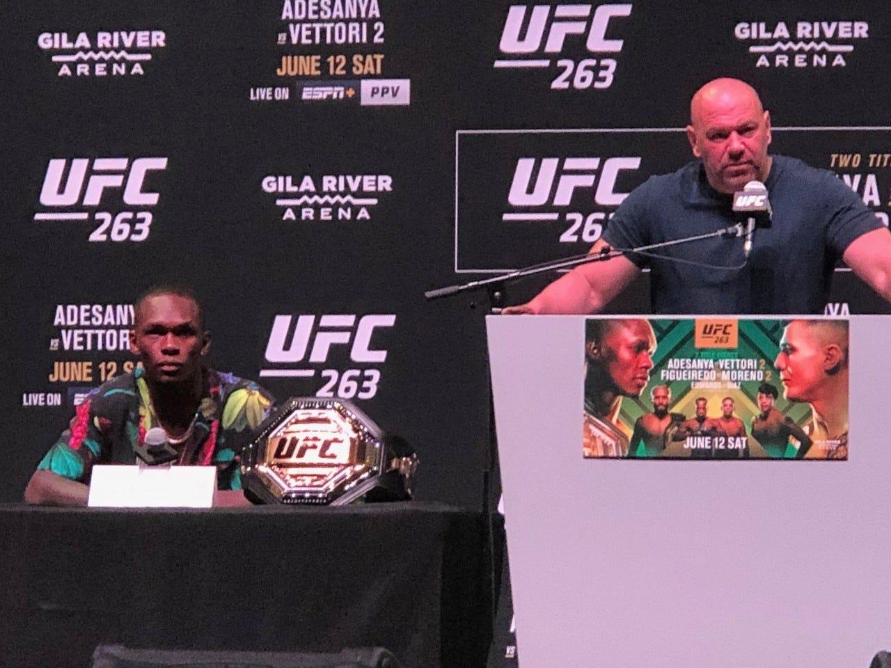 UFC President Dana White, on choosing Phoenix for UFC 263 Saturday in Glendale