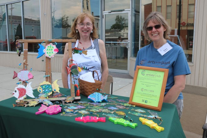 Members of the Port Clinton Artists' Club, which organizes the annual Arts in the Park event each year, also hosts a table at the semimonthly Art Walks downtown.