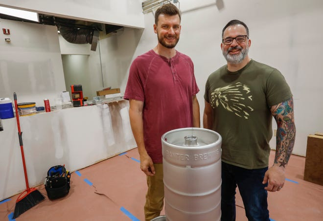Brian Harbison, left, and Jon Weddle are preparing to open Banter Brewing Co., which will be located at 330 West Plainview Rd.