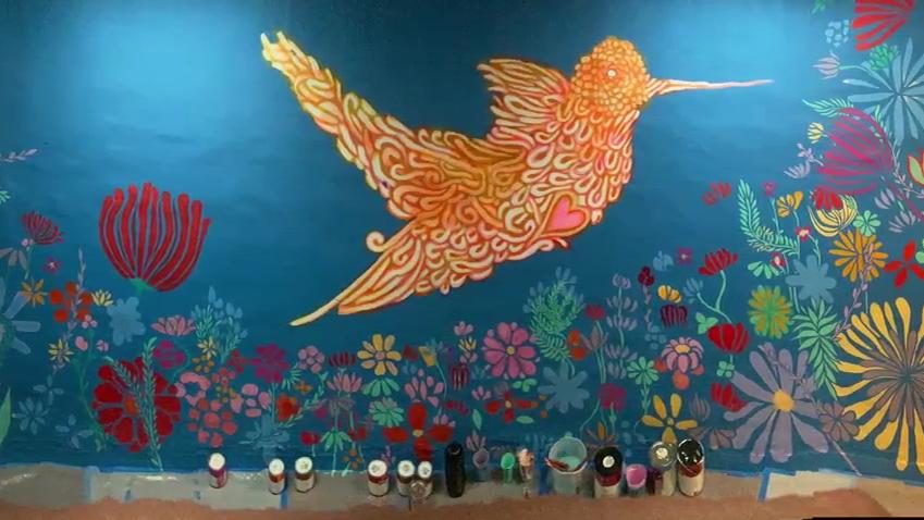 Hummingbird mural inspires at Boys & Girls Club
