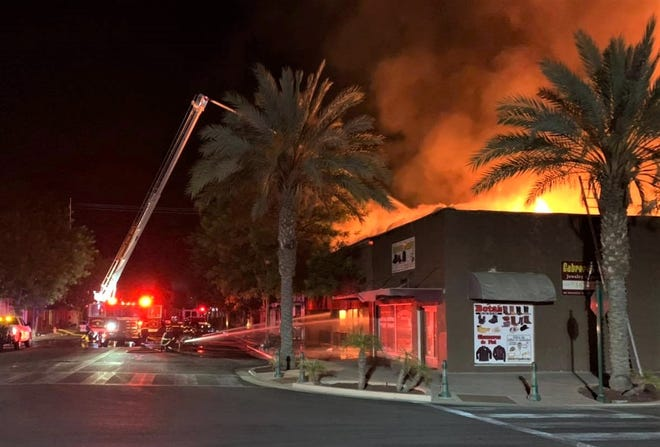 A large fire was reported in the 100 block of Honolulu Street in Lindsay on Friday, June 11, 2021.