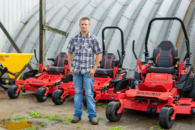 As part of his FFA experience in agricultural mechanics, Caden Keck spent his summers and time after school working on mowers and tractors at Ross Agri Mechanical.