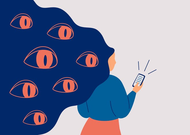 Nearly 60% of poll respondents fear their smartphones are spying on them and say they've experienced the phenomenon when they're having a conversation about something and then saw an ad online for that exact product.