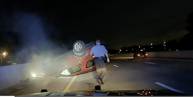 An Arkansas woman has filed a lawsuit against a state trooper for employing a driving technique that flipped her vehicle over on the road while she was pregnant.