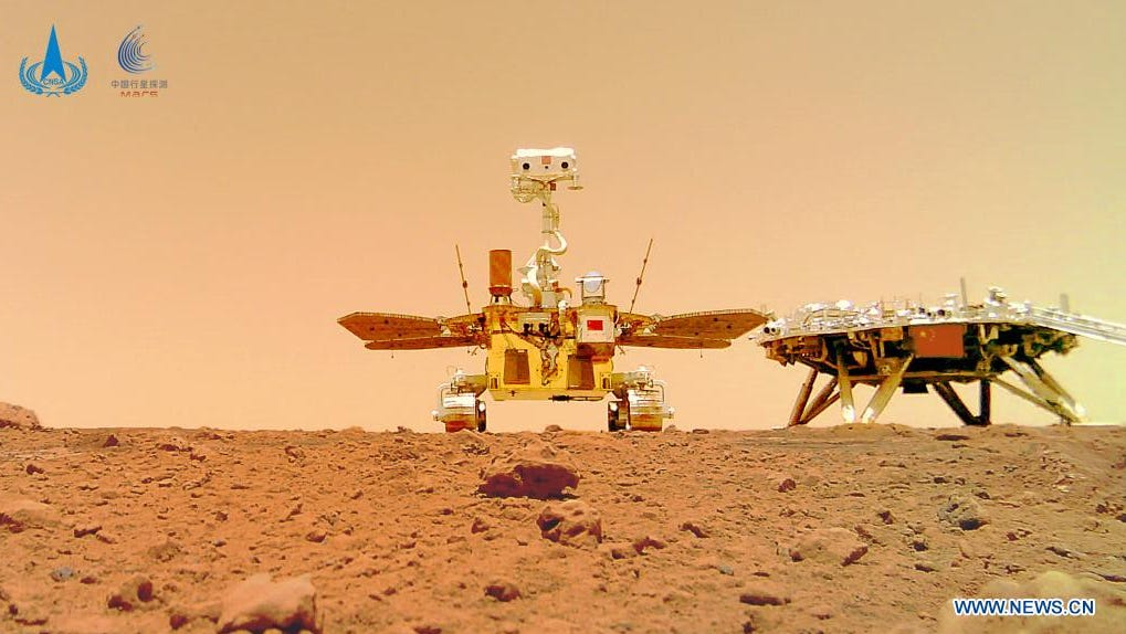 China marks 'complete success' of Mars rover Zhurong with new photos, including a selfie - USA TODAY