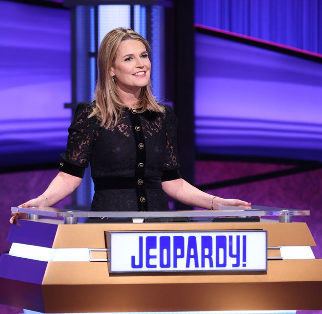"""Savannah Guthrie says her """"Jeopardy!"""" gig was """"pure fun,"""" because she didn't view being permanent host as an option. She's quite happy as co-anchor's of NBC's """"Today,"""" where she just celebrated 10 years."""