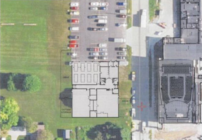 Proposed location of stand alone Vocational Center